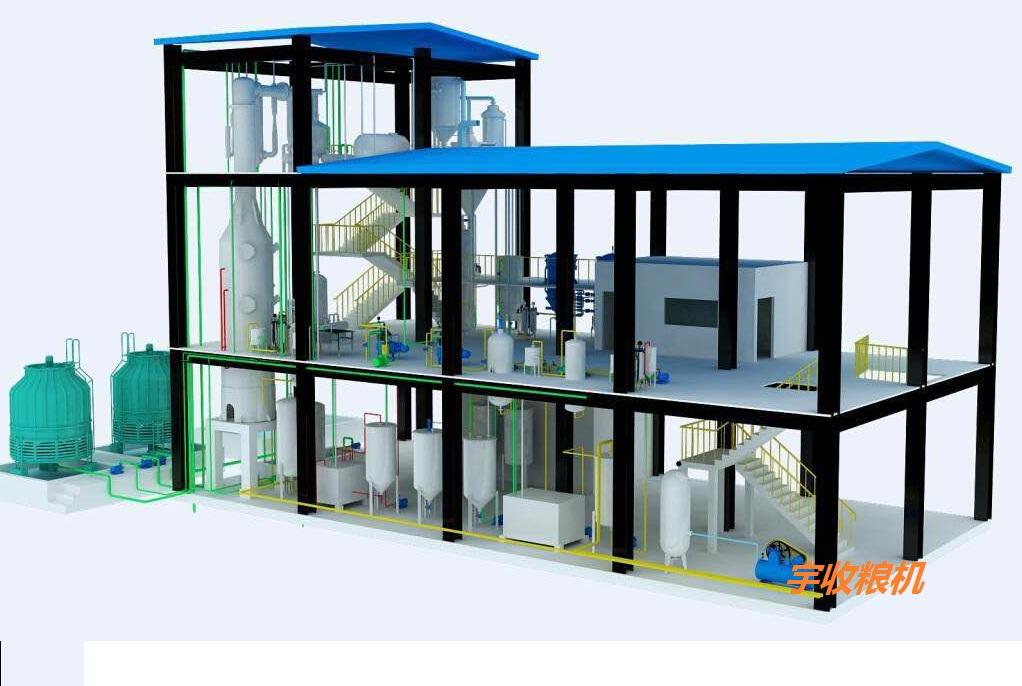 环保型油脂精炼技术处理量:10-1500吨