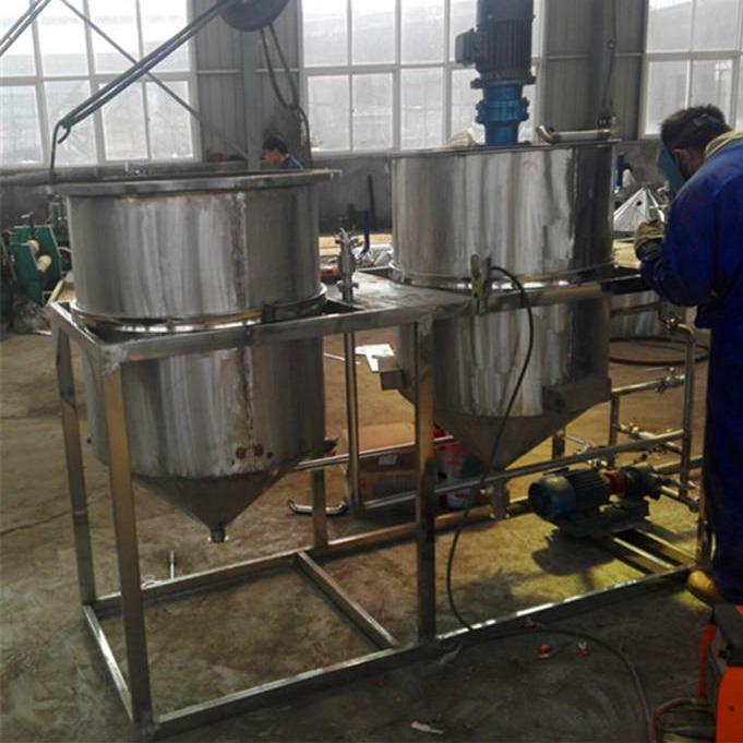 菜籽精炼油机 浓香型花生炼油机 食用油精滤机设备全不锈钢材质
