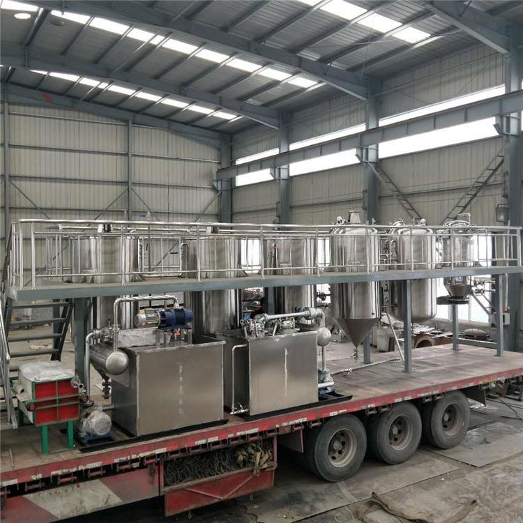 大豆油精炼生产线 食用油压榨精炼整套设备 油脂精炼设备 可根据场地定制销售