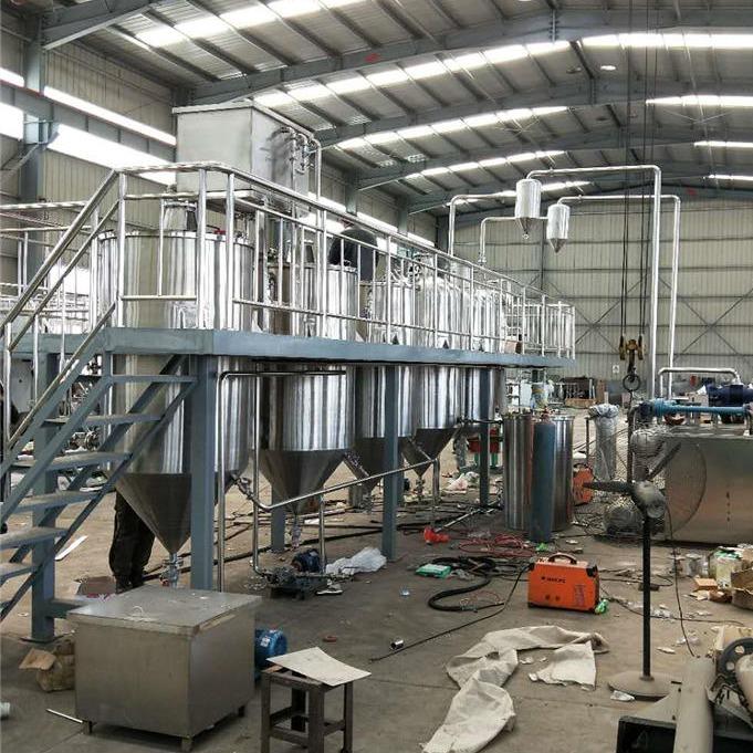 大型核桃油精炼设备 榨油精炼整套设备 胡麻油精炼生产线 厂家规划场地设计方案