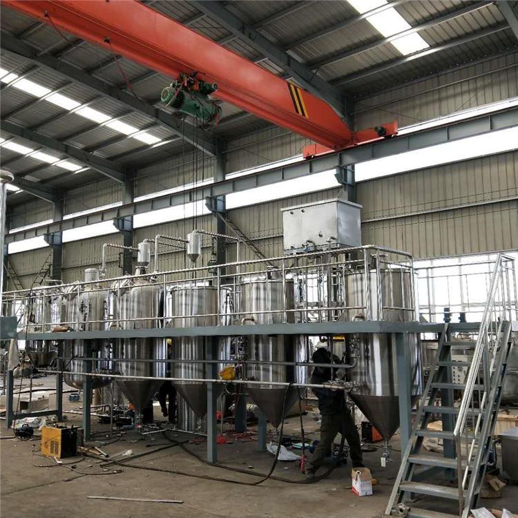 大型食用油精炼生产线 油脂精炼成套设备 胡麻油提纯炼油设备 可达到国家一级油标准 厂家定制
