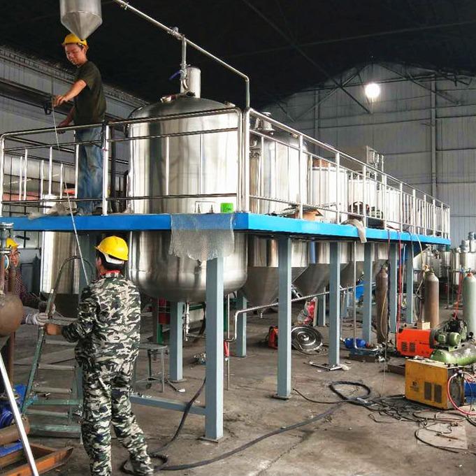 山茶油精炼设备 花生油物理精炼生产线 食用油炼油设备 达到国家一级油标准可根据产量定制