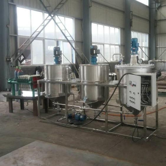 全自动花生油炼油机 300型菜籽油精炼设备,茶籽油精炼设备 食品级不锈钢304材质
