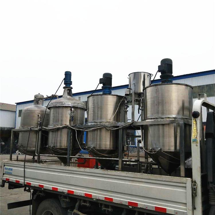 小型三罐花生油精炼机 食用油精炼油机设备 榨油坊专用机型 浓香型三级油标准