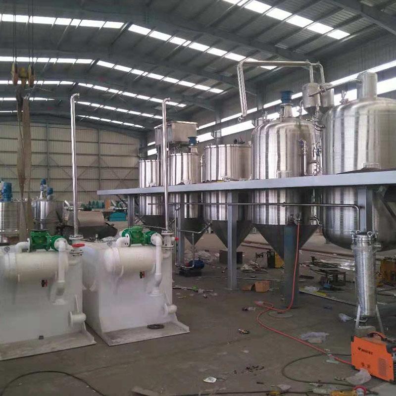 3T/D 大豆油精炼设备 全304不锈钢材质 一级油标准 物理精炼工艺