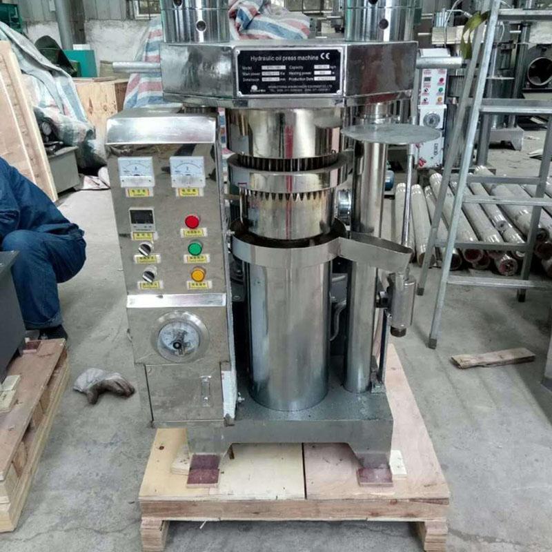 汉科机械厂家现货供应高效出油率液压榨油机 新型芝麻香油榨油机