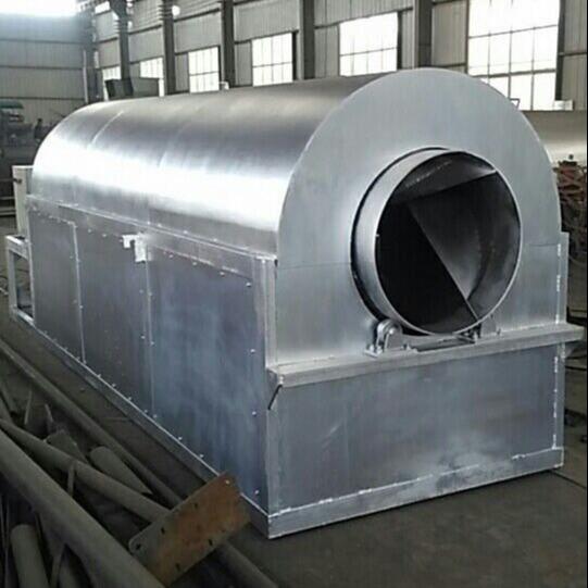 供应大型电加热豆腐渣烘干机 智能环保型滚筒式电加热饲料烘干机