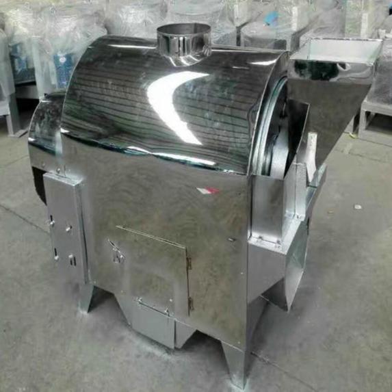 厂家现货批发全自动不锈钢电加热滚筒芝麻炒锅 不锈钢花生米炒锅