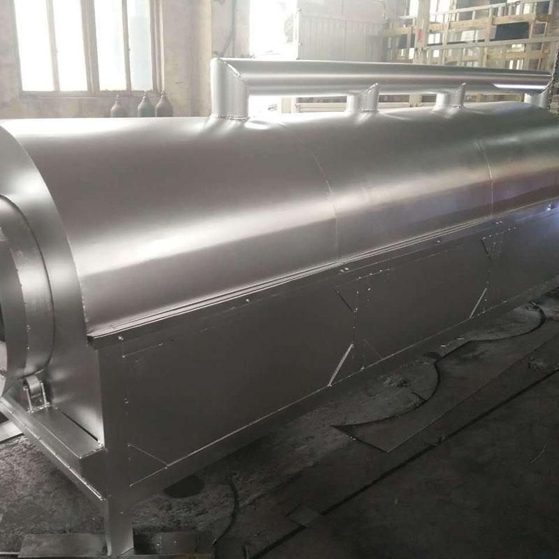 厂家供应大型滚筒芝麻炒锅 时产1吨全自动电加热环保型滚筒炒锅