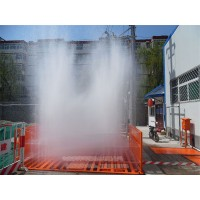 工地洗车平台厂家 工程车车辆自动洗车池